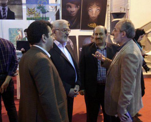 بازدید مدیر عامل کانون پرورش فکری کودکان و نوجوانان از دهمین جشنواره پویانمایی